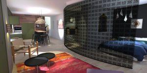 agencement studio loft