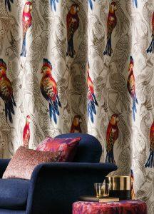 Tissus tapissière et rideaux
